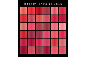 36 vector rose color gradients