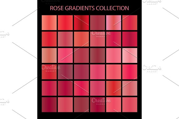36 Vector Rose Color Gradients