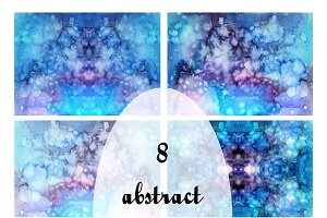 8 abstract watercolor textures