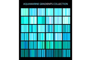 36 Vector aquamarine color gradients