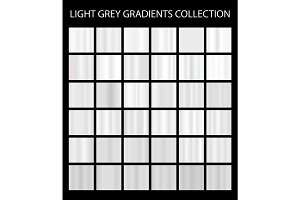 36 vector light grey color gradients