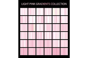 36 vector light pink color gradients