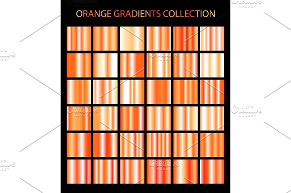 36 Vector Orange Color Gradients