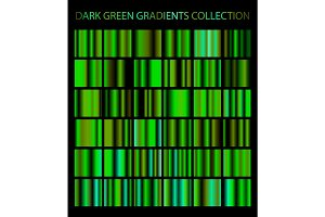 Dark green gradients collection.