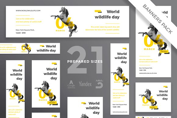 Banners Pack | World Wildlife in Templates