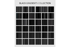 Black color gradients collection.