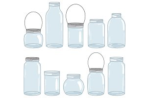 Digital Mason Jar Set