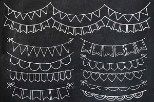 Chalk Bunting Clipart