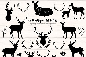 Deer Silhouette Clipart