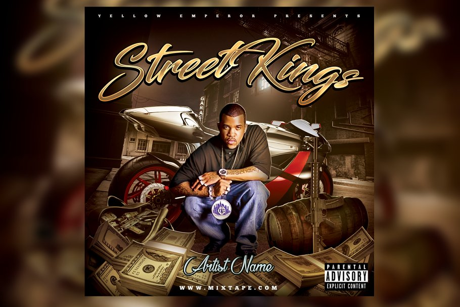 Street Kings CD Cover Template in Templates