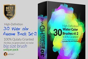 Hi-Res Water color PS Brush Set-2