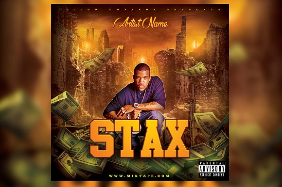 Stax Mixtape Cover Template in Templates