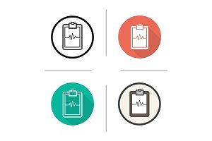 Cardiogram clipboard icon