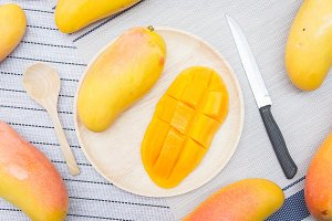 mango fruit on summer
