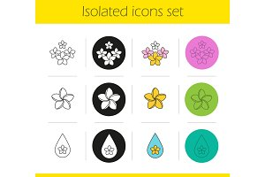 Aromatherapy icons set