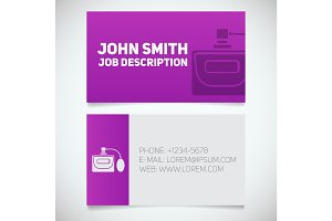 Business card print template with perfume logo