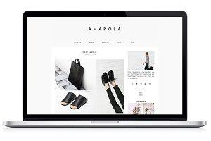 Responsive WP Theme - Amapola