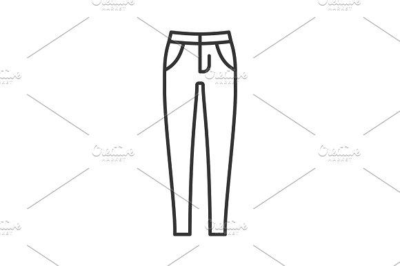 Women's Skinny Jeans Linear Icon