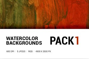 Watercolor backgrounds pack 1