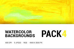 Watercolor backgrounds pack 4
