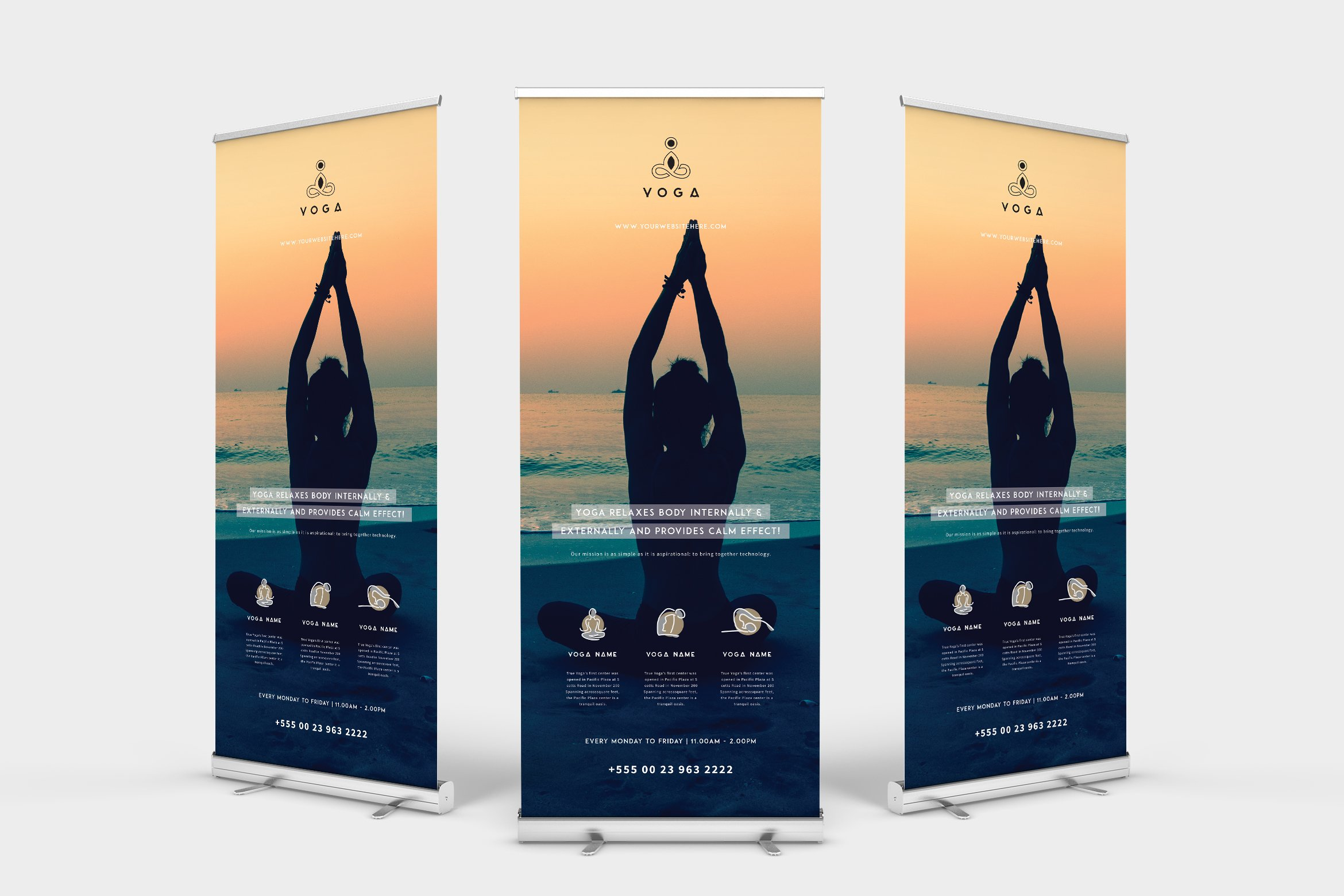 Yoga Roll Up Banner Creative Daddy