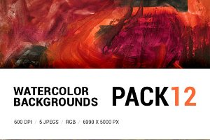 Watercolor backgrounds pack 12