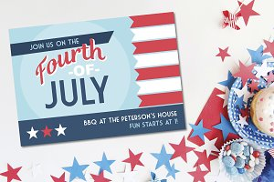 Vintage Fourth of July Party Invite