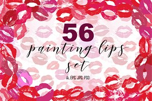 56 Lips big set.