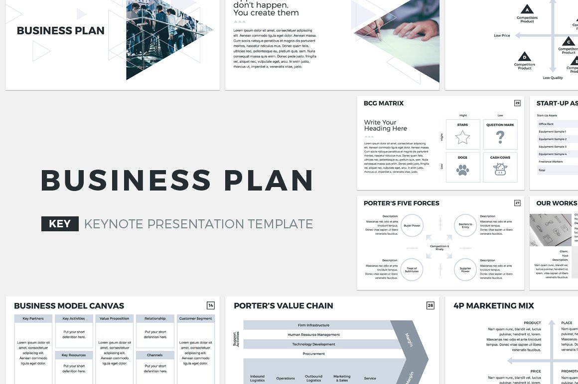 business plan keynote template presentation templates creative market. Black Bedroom Furniture Sets. Home Design Ideas
