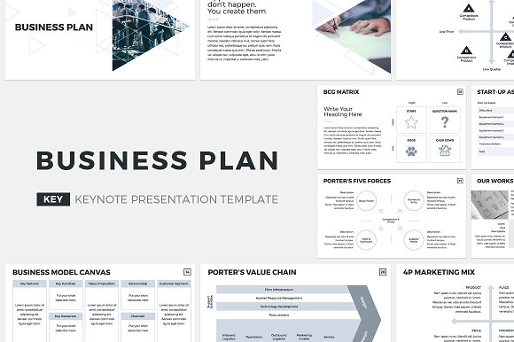 Business Plan Keynote Template Presentation Templates Creative - Business plan model template