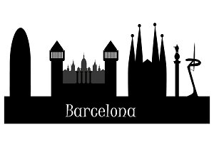 silhouette of barcelona