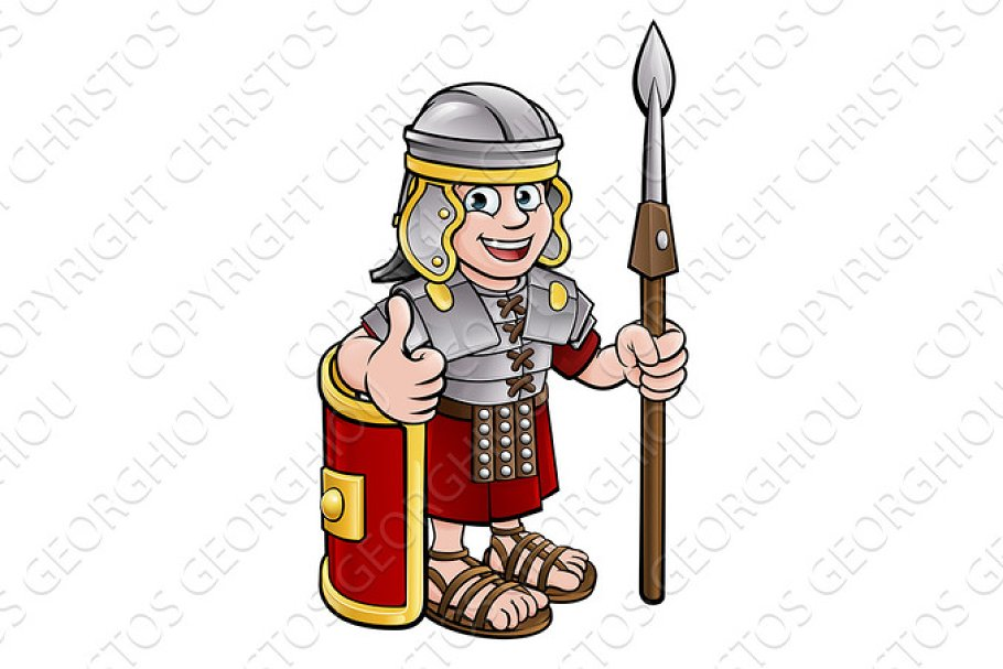 Roman Soldier Cartoon Character