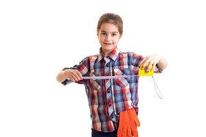 Little girl holding roulette