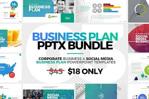 Business plan powerpoint presentation templates creative market business plan powerpoint bundle wajeb Gallery