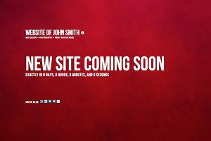 Coming Soon - Site Theme