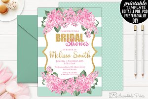 Mint Gold and Pink Bridal Shower