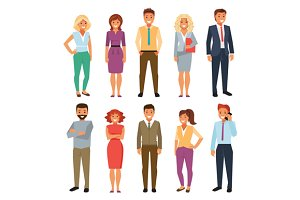 Business People. Vector Illustration