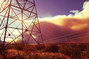 Forest Fire and Transmission Tower