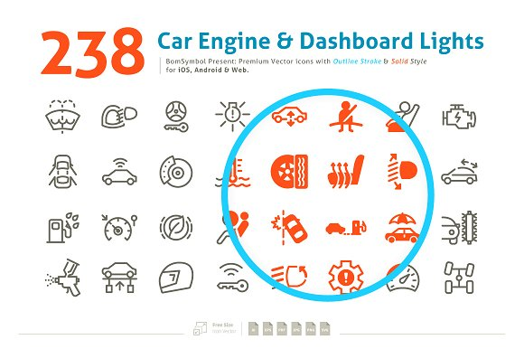 Car Engine Dashboard Lights Symbol