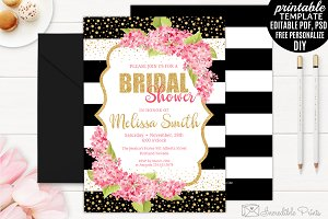 Pink and Gold Bridal Shower Invite