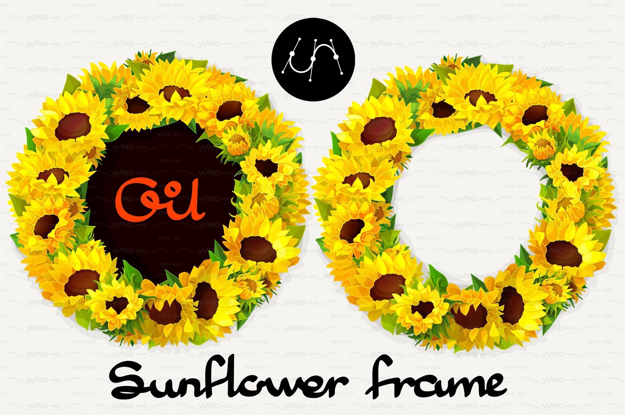 ♥ vector Sunflower Frames 01 ~ Graphic Patterns ~ Creative Market
