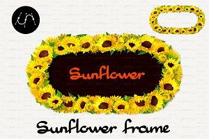 ♥ vector Sunflower Frames 02
