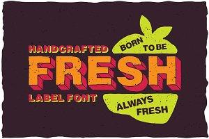 Fresh Cartoon Look Label Typeface