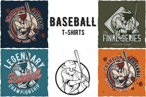 Baseball T-shirts Labels