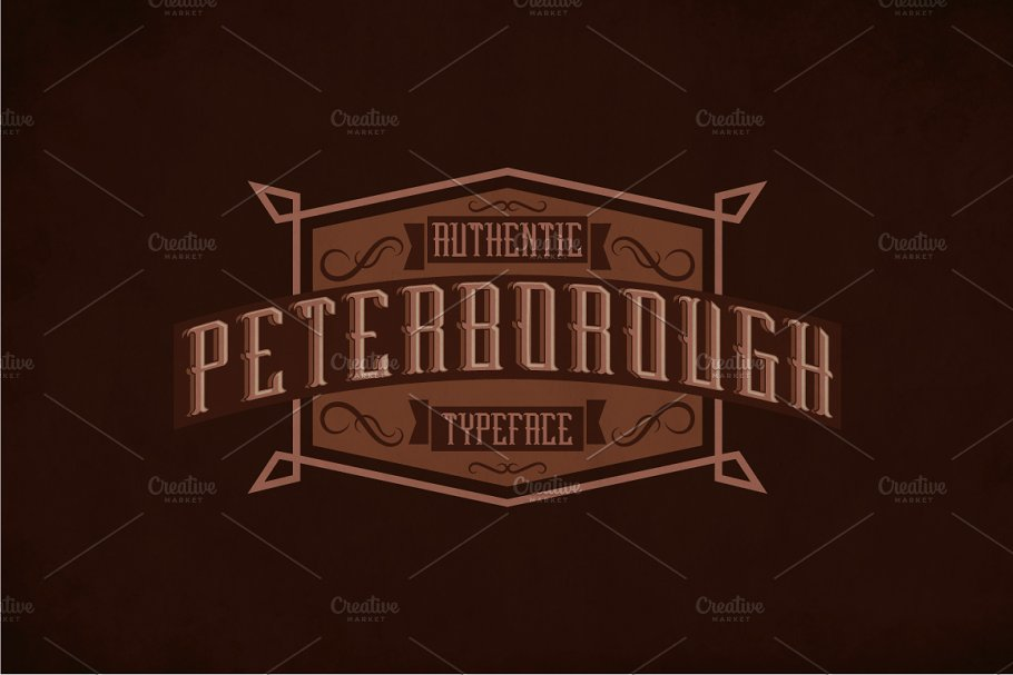 Peterborough Label Typeface