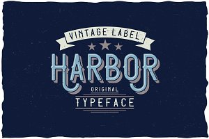 Harbor Vintage Label Typeface