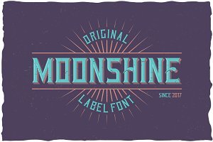Moonshine Label Typeface