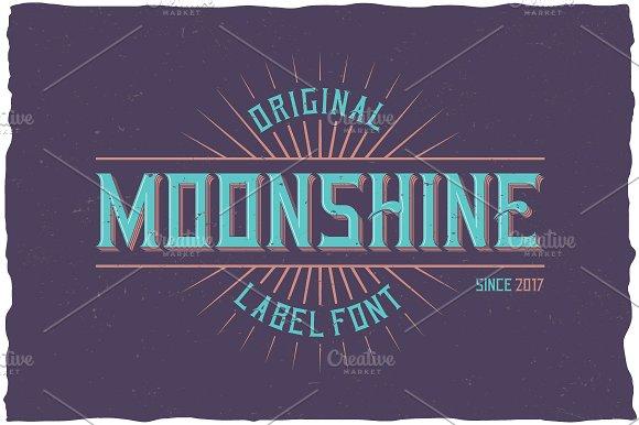 Moonshine Label Typeface