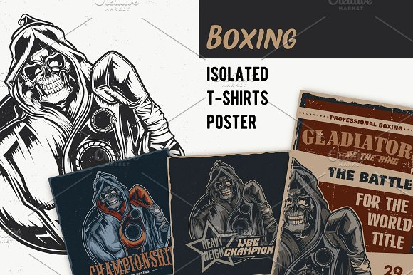 Box T-shirts And Poster Labels