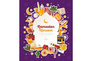 Ramadan Kareem Mosque Shape Frame
